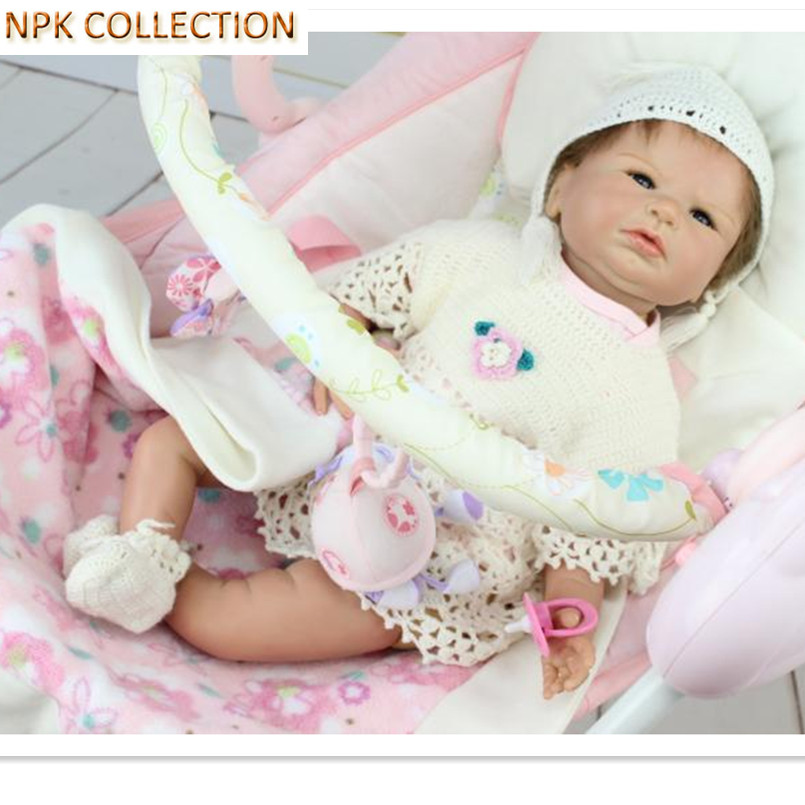 NPK COLLECTION Real Silicone Doll Reborn Baby Alive Doll Bonecas,20 Inch/50 CM Silicone Baby Born Doll Reborn Babies Brinquedos npk collection 15 inch silicone reborn baby dolls fake baby doll silicone toys for girls gifts real looking baby alive bonecas