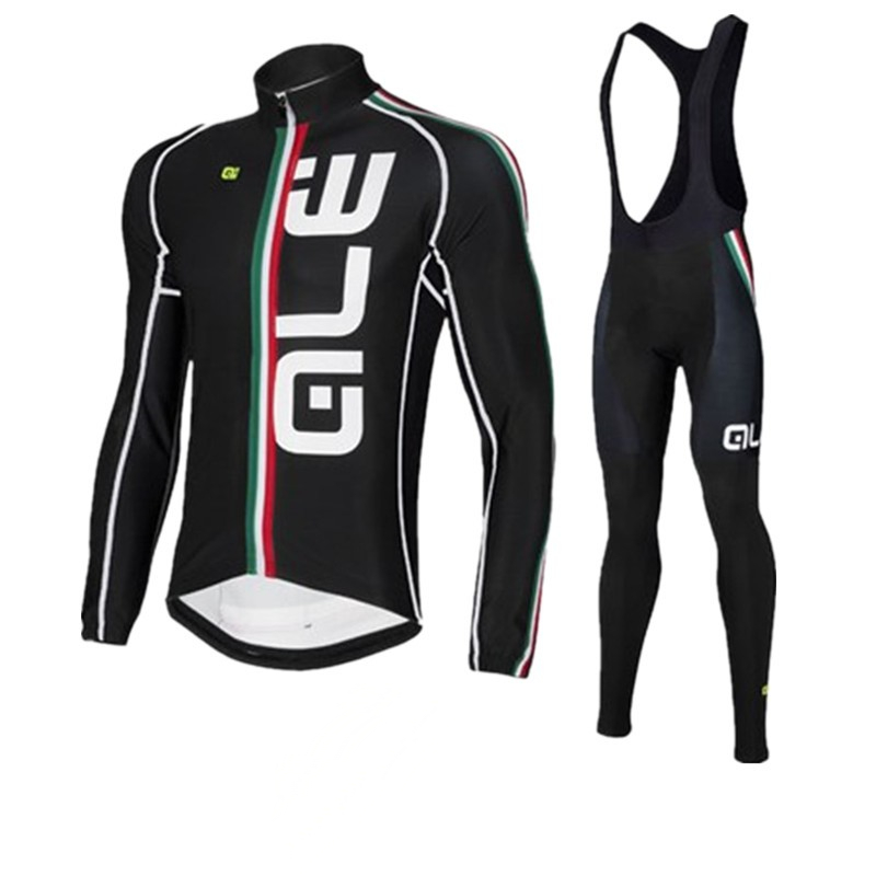 2018 ALE Team Winter Men Cycling Suits 4 Color Cycling Clothing Riding Clothing Set Ropa Ciclismo MTB Bicycle Jersey 9D Gel Pa