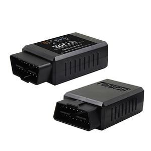 Image 2 - Automotriz V1.5 ELM327 wifi para coche OBD2 OBDII herramienta de escaneo escáner adaptador comprobar la luz del motor herramienta de diagnóstico negro
