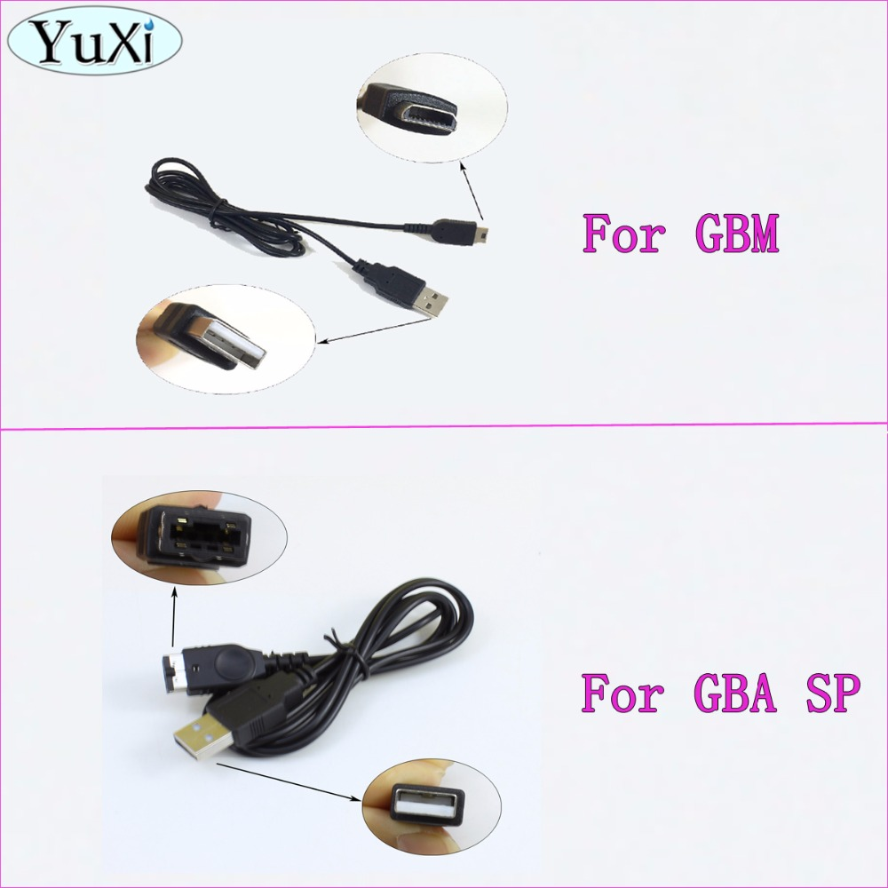 YuXi For GBA SP USB Power Supply Charging Charger Cable For Nintendo Game Boy Micro GBM Console