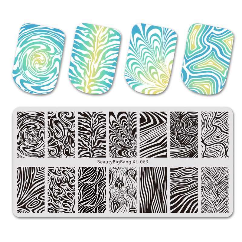BeautyBigBang 1PC Stamping For Nails DIY Water Marble Manicure Nail Stamping Plates Template Nail Art Stencils XL-063    BeautyBigBang 1PC Stamping For Nails DIY Water Marble Manicure Nail Stamping Plates Template Nail Art Stencils XL-063