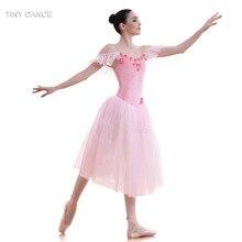 Pink Velvet Bodice and Soft Tulle Long Ballet Tutu for Girls   Women  Dancing Dress Adult b1f094ac22fc