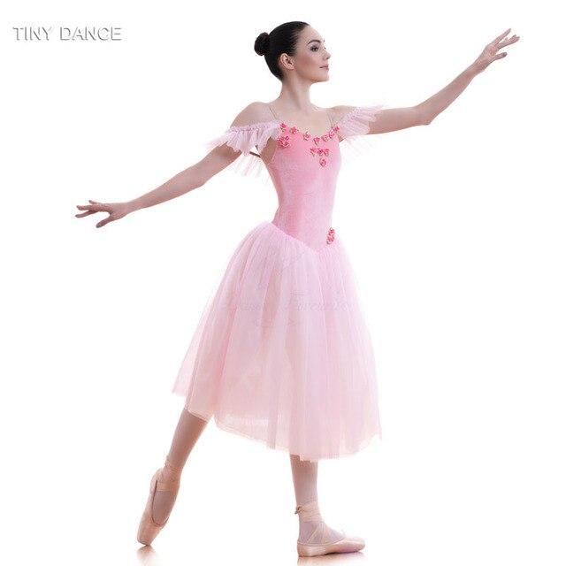 933c14795 Pink Velvet Bodice and Soft Tulle Long Ballet Tutu for Girls & Women Dancing  Dress Adult
