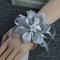 Muñeca Corsage de flores Artificiales Flores de La Novia de Dama de Honor Hermanas Decoración Del Banquete de Boda Nupcial Prom A036