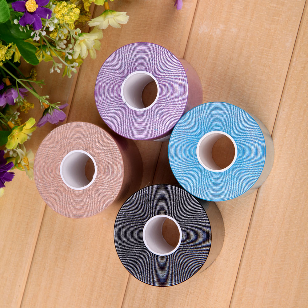 1 Roll 5mx5cm Sports Tape Muscles Care Cotton Adhesive Muscle Bandage Therapeutic Tapes Sports Safety Protection Band