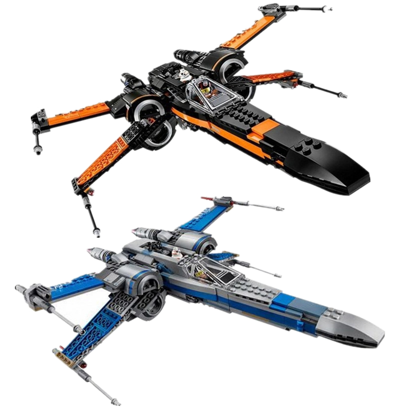 Starwars 75102 75149 75211 X Wing Star Tie Fighter Building Blocks Compatible Legoinglys Star Plan Wars Children Toy oleku hotsale star wars resistance x wing tie advanced prototype micro fighter starwars the wookiee gunboat building blocks toys