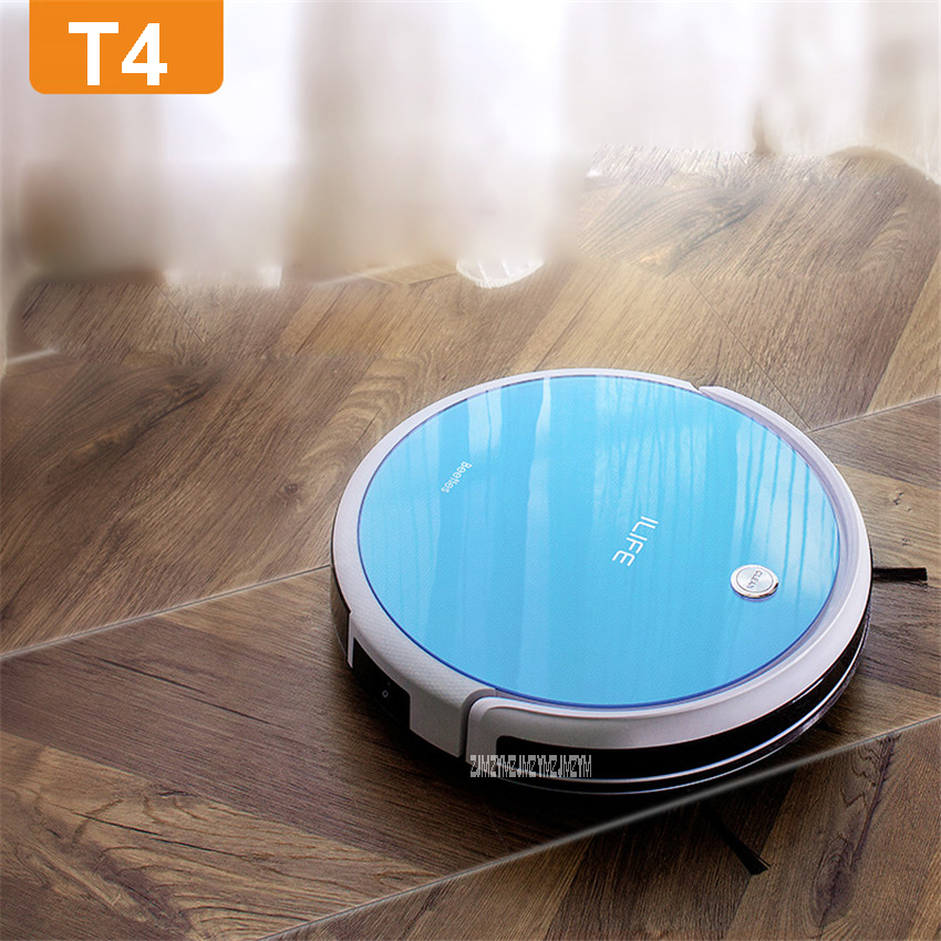 T4 100-240V Mini Robot Vacuum Cleaner for Home 22W Automatic Sweeping Dust Sterilize Smart Planned Mobile App 2600mah Battery cen546 110 220v mini robot vacuum cleaner for home automatic sweeping dust sterilize smart planned mobile app 0 3l dust box