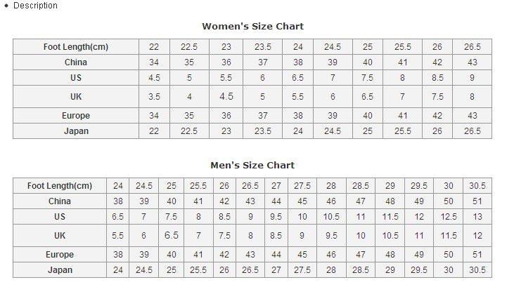 adult shoe size
