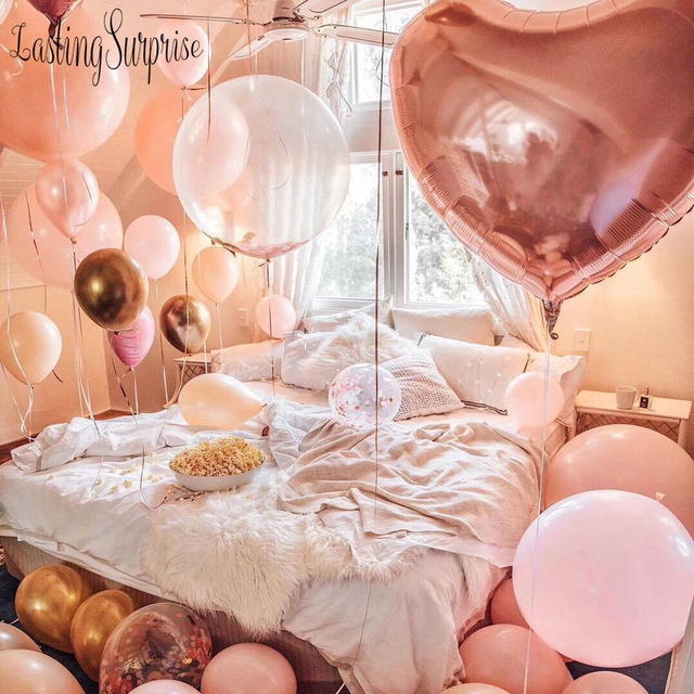 Air Balloons Birthday Party Decorations Kids Adult Rose Gold