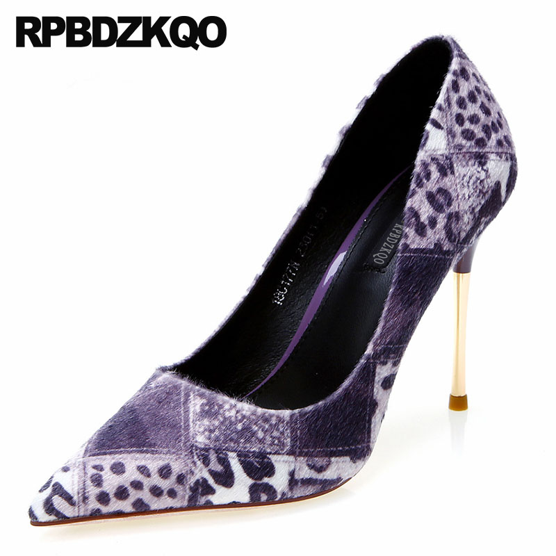 Purple Leopard Heels