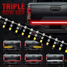 """OKEEN חדש 60 """"לשלושה שורות 5 פונקצית משאית דלת תא המטען LED רצועת אור בר עם הפוך בלם איתות עבור Jeep SUV איסוף דודג"""