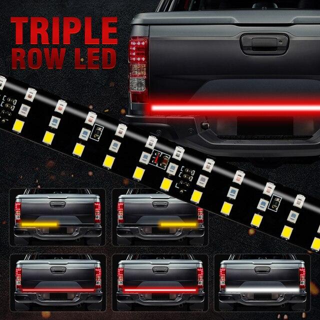 """Okeen 新 60 """"トリプル行 5 機能トラックテールゲート led ストリップライトバー逆ブレーキターンシグナルライトジープピックアップ suv ダッジ"""