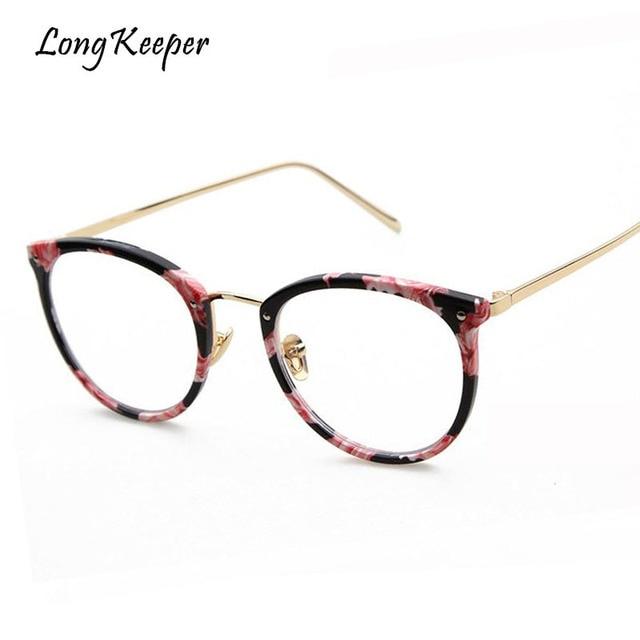 4483529c21680 Longo Goleiro Novo 2018 Mulheres Da Moda Olho de Gato Óculos de Armação sem  Grau Lente