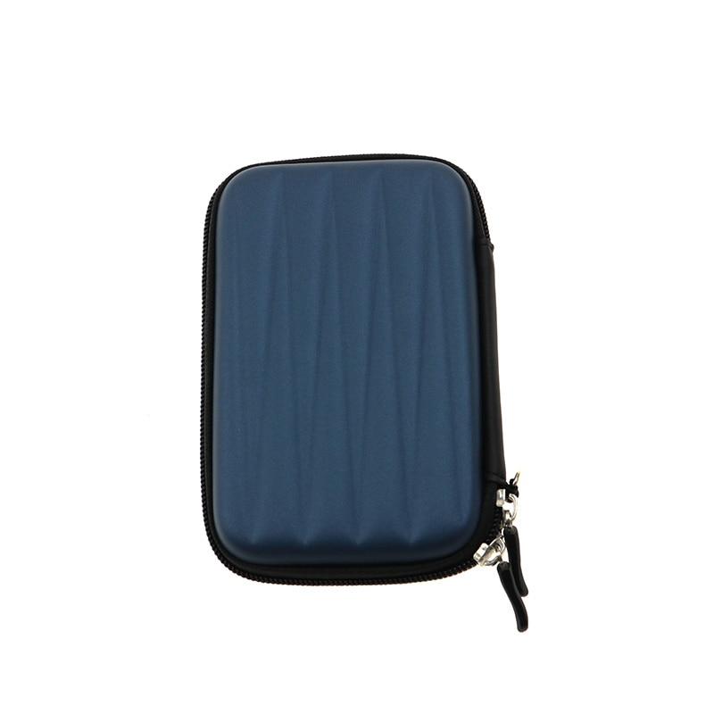 Nworld портативный 2,5 дюймов HDD Внешний жесткий EVA PU чехол для переноски Чехол Сумка для жесткого диска чехол для переноски черный синий - Цвет: Dark Blue