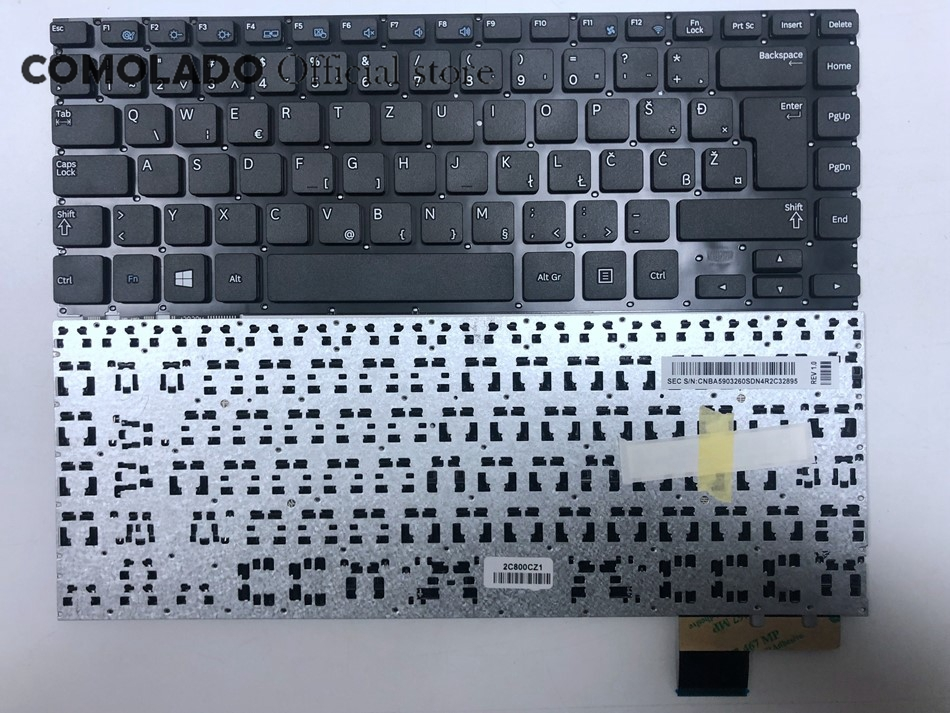WB West Blanks <font><b>keyboard</b></font> for For <font><b>Samsung</b></font> NP530U4B <font><b>NP530U4C</b></font> NP535U4C NP530U4BI 530U4 NP530U4 530U4B 530U4C Laptop <font><b>keyboard</b></font> WB image