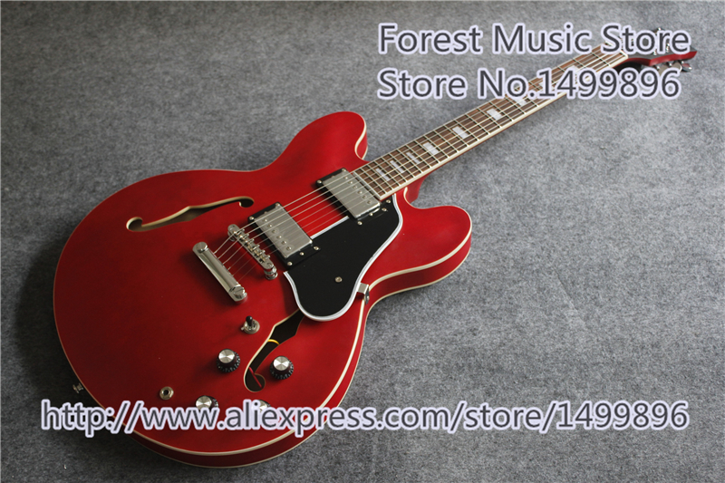 High Quality Satin Soft Cherry Finish ES 335 Electric Guitars Left Handed Guitar Custom Available цена 2017