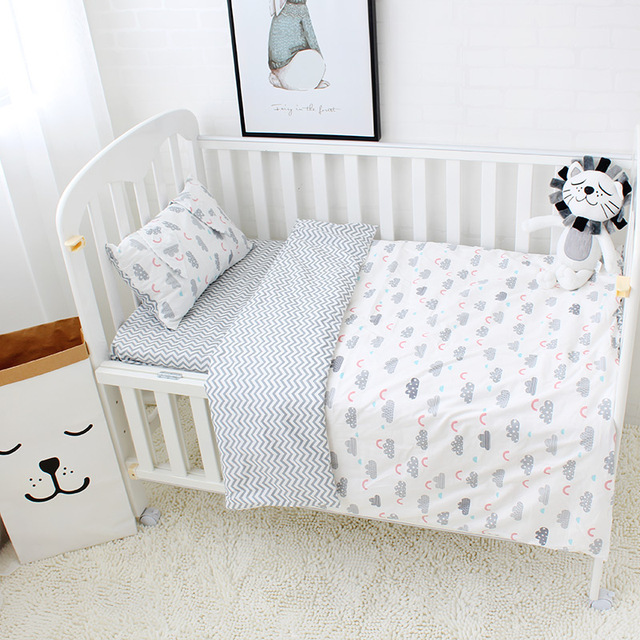bebe ensemble de literie pur coton ccri kit linge de lit pour enfants incluiding couette oreiller