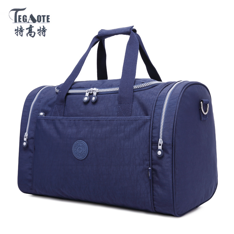 TEGAOTE 2017 New Large Capacity Travel Bag Women Duffle Luggage Bags Nylon Waterproof Casual Tote Design Handbags High Quality tegaote newest women travel bags large capacity duffle luggage big casual tote bag nylon waterproof bolsas female handbags