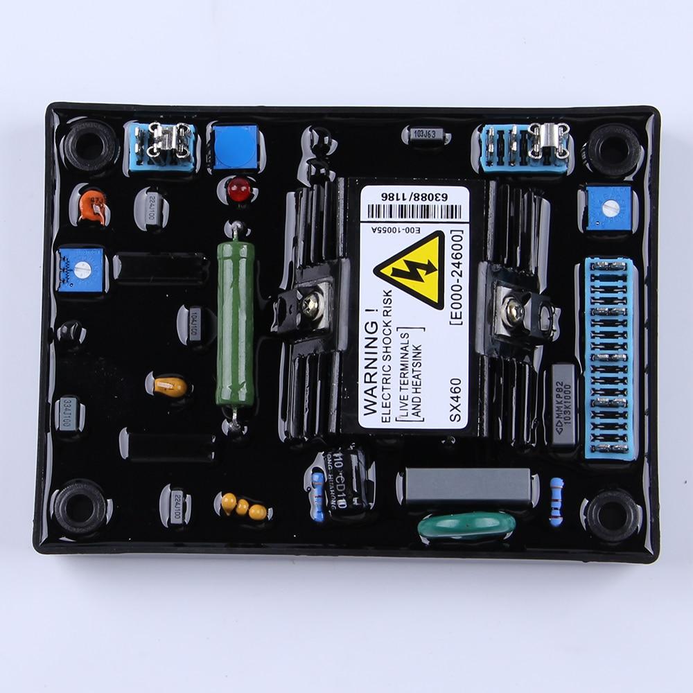 high quality SX460 AVR Brushless Alternator Voltage Stabilizer 110V 220V AVR Development Board Adjuster for Generator Regulator avr sx460 5 pieces sx460 free shipping