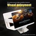 """Orsda 3D Ampliador de Tela Do Telefone Móvel 8.2 """"HD Portátil Dobrável Filme Ampliador de Tela Do Jogo De Vídeo Amplificador com Stand Titular"""