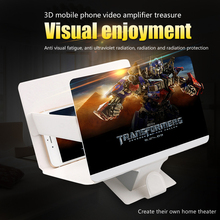 orsda 3D Mobile Phone Screen Magnifier 8.2″ HD Portable Folding Movie Video Game Screen Enlarger Amplifier with Stand Holder