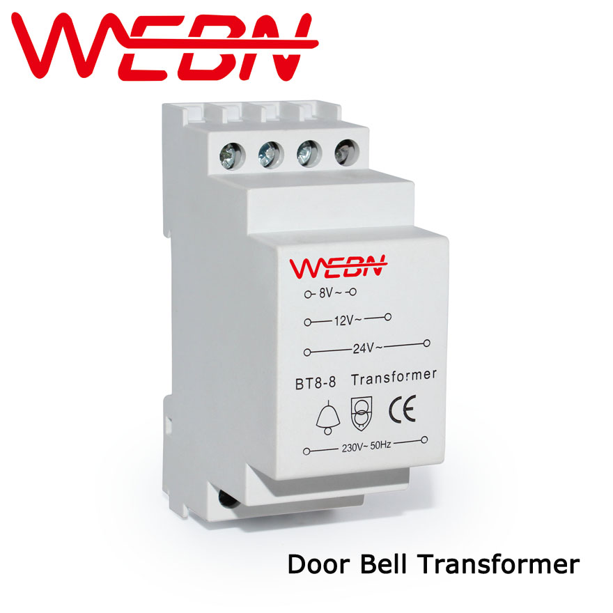 BT8-8 Door Bell Transformer Rated Voltage 230/240VAC 50/60Hz IP20 CE Approval plastic