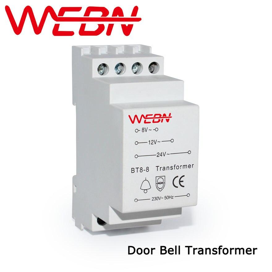 BT8-8 Porta Bell Transformador de Tensão Nominal 230/240VAC 50/60Hz IP20 CE Aprovação