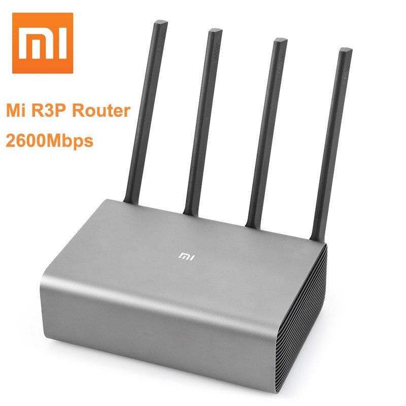 Routeur sans fil intelligent d'origine Xiao mi mi R3P 2600 Mbps Pro 4 antenne double bande 2.4 GHz + 5.0 GHz WiFi dispositif réseau