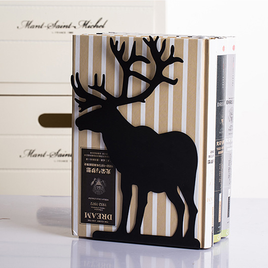 1 Pair Fashion Cute Metal Bookends Book Holder High Quality Desk Accessories Organizer Bookstand Office School Home metal key holder organizer 28 ring set