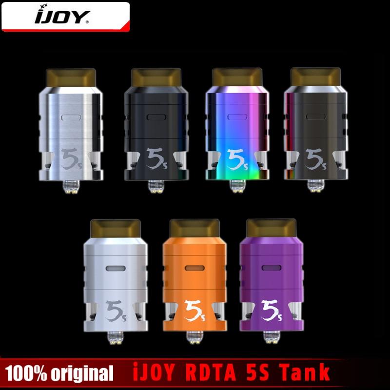 D'origine iJOY RDTA 5S Réservoir 2.6 ml Innovante Centrale Top Remplir Aiflow Atomiseur pour Cigarette Électronique 18650 Boîte Mod