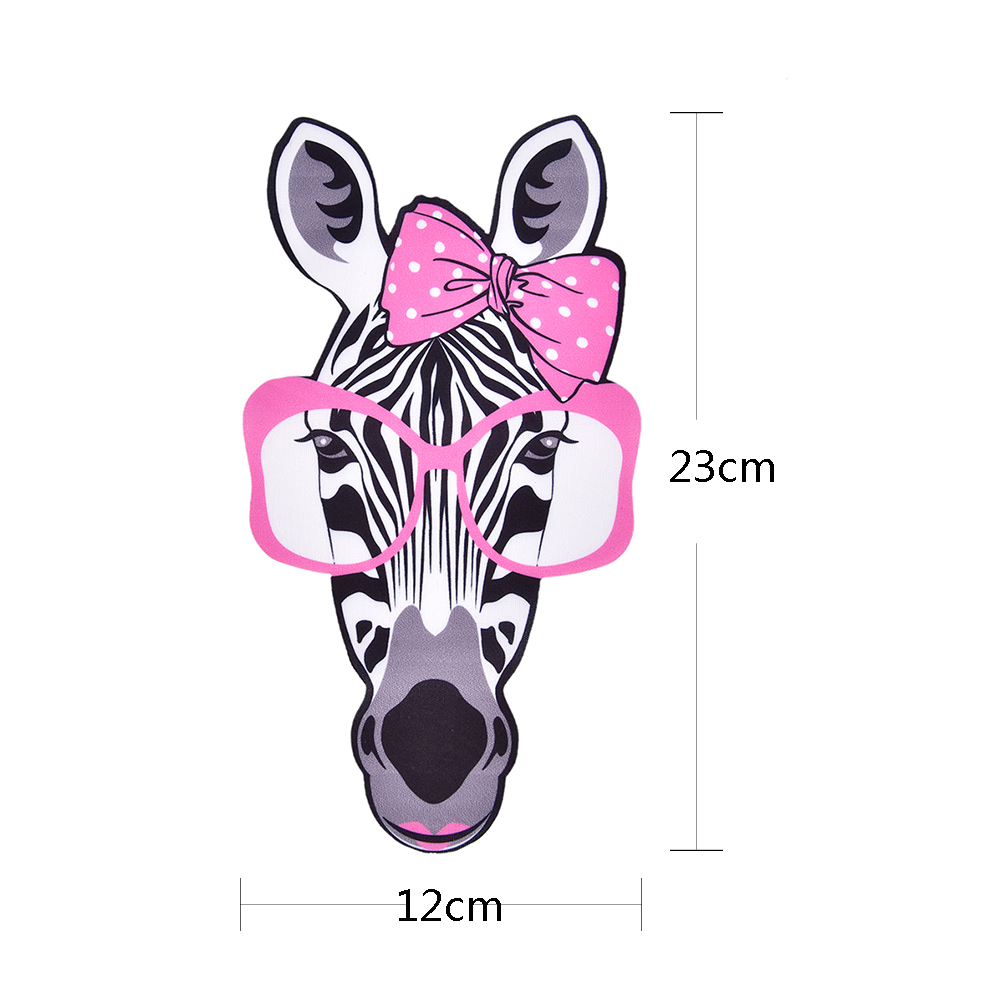 Fashion t shirt 23cm zebra head pattern iron on patch brand transfer logo printing patches stickers for clothin diy in patches from home garden on