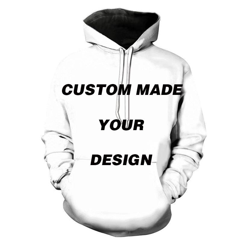 DIY Custom Full Print Hoodies 3D Digital Printed Sweatshirt Men Women Pullover Unisex Hoodies Outwear Coat EU Size