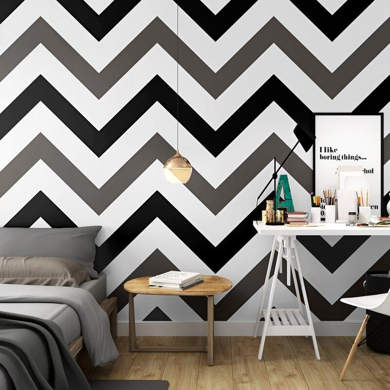 Warm Home Decor: Modern Pink Wallpaper Modern Geometric Pattern Pure Paper