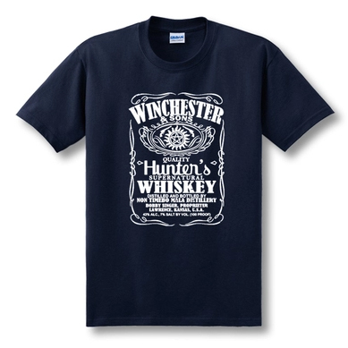 Hot TV Series Supernatural T-Shirt Winchester Brother Castiel T Shirt Tees Men Summer Loose Casual Short Sleeve Cotton Shirts