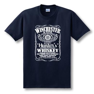 Serie de TELEVISIÓN Supernatural Castiel Camiseta Hermano Winchester caliente T Shirt Camiseta de Los Hombres Ocasionales Flojos Del Verano de Algodón de Manga Corta Camisetas