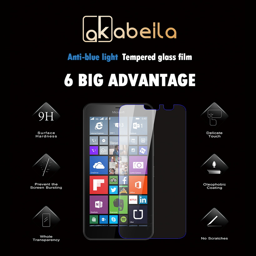 AKABEILA Tempered Glass For Microsoft Nokia Lumia 640XL 640 XL N640XL Explosion-proof Cover Screen Protector wholesale