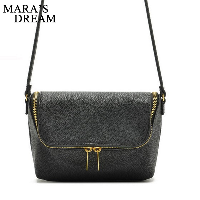 Mara's Dream Brand Design Small Fold Over Bag Women Messenger bags Leather Crossbody Sling Shoulder bags Handbags Purses Zipper zmqn women shoulder bag candy colors fashion handbags brand small leather crossbody bags for women messenger bag girl zipper 507
