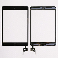 20 pcs/ lot Low Price Touch Screen Assembly Panel With Home Button And IC Connector for iPad mini 1/2/3 Repair Parts 1