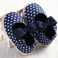 Spring Summer Baby Girls Shoes First Walkers Lovely Polka Dot Toddler Baby Bowknot Girls Princess Shoes Dress Crib Shoes 0-1T