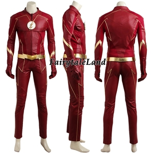 Image 2 - The Flash Season 4 Barry Allen Flash Cosplay Costume Carnival Halloween Costumes for adult Men Flash costume red uniform