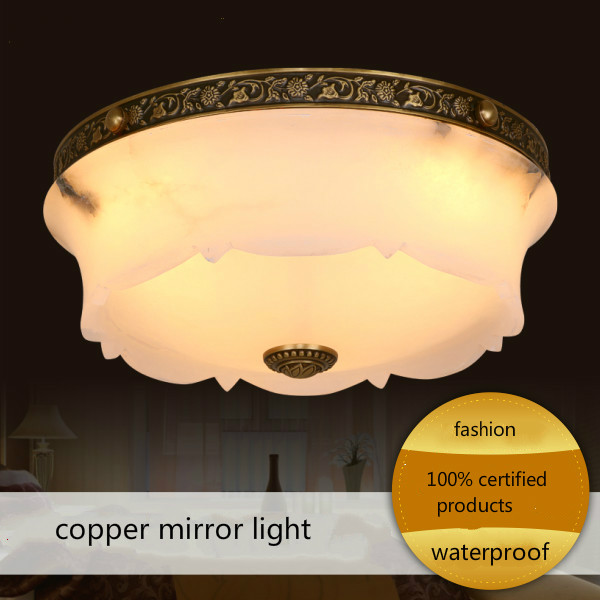 Натуральный мраморная лампа Мода Медь лампа медные лампы плафон потолочный светильник
