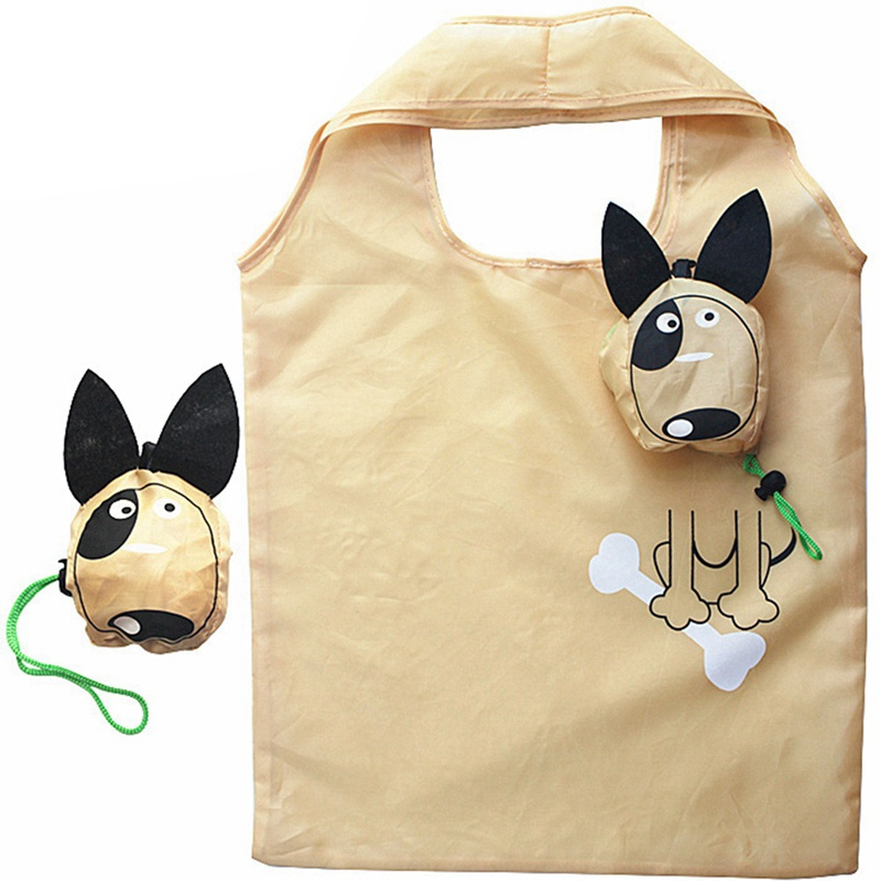 New Animals Cute Dog Shopping Bags Useful Nylon Folding Tote Eco Reusable Shopping Bags new style cartoon fruit lemon eco bag useful nylon foldable reusable shopping bags