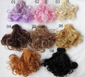 1pcs 15cm*100cm Dolls Accessories Black / brown / milk gold wigs/hair for 1/3 1/4 BJD diy