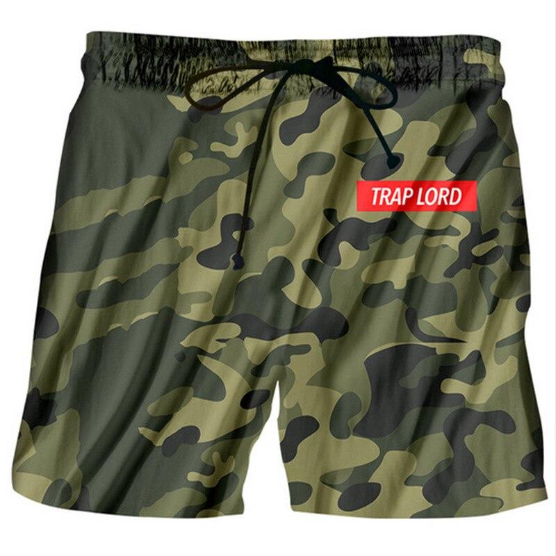 Hipster Camouflage 3D Print Beach   Shorts   Men   Board     Shorts   2018 Summer Swimshorts Boys Elastic Waist Casual Pants stroj kapielowy