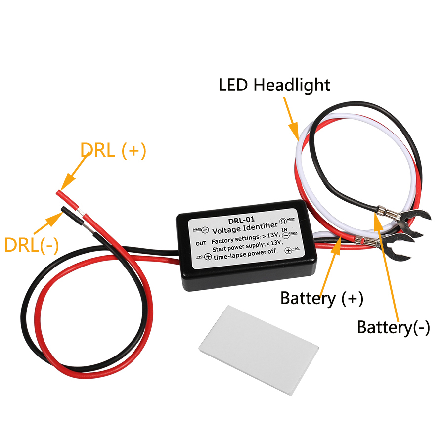 hight resolution of yccpauto 1pcs newest smart led drl controller auto car led daytime running lights controller relay harness dimmer on off 12 18v in car light accessories