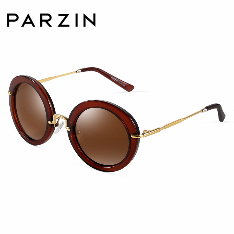 PARZIN Brand Polarized Sunglasses Men amp Women Lovers Shield Anti UV400 Vintage Classics Fashion Round Lens Metal Frame 9269 in Women 39 s Sunglasses from Apparel Accessories