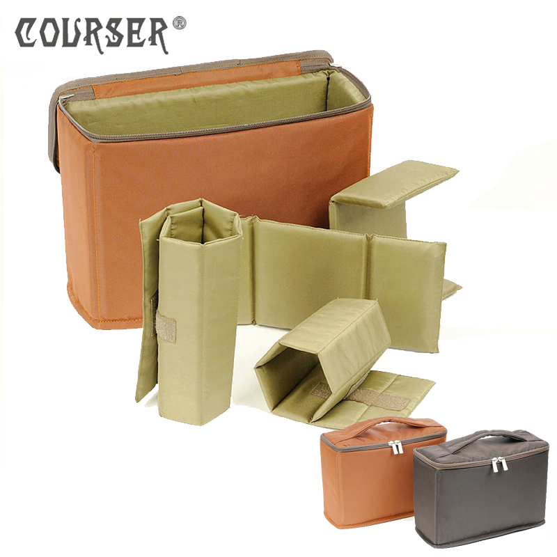 COURSERR Pro Camera/Video Bags Folding Partition Padded Camera Partition Bag Insert DSLR Divider Protection Case E603