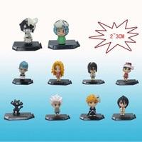 Japanese Anime Bleach Ichigo Kurosaki Orihime Inoue Colecao PVC Figura Brinquedos 10 BLFG005 pcs/set Frete gratis 2 3cm