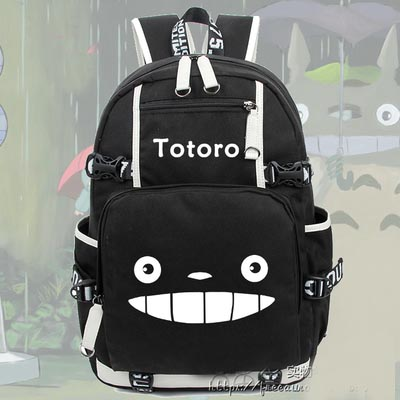 Hot Miyazaki Hayao Anime Totoro Backpack Cosplay Fashion Luminous Canvas Bag Schoolbag Travel Bags hot selling anime inuyasha sesshoumaru cosplay shoulders oxford bag backpack cartoon cute schoolbag satchel book bags