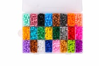 Kids Hama Beads Perler Beads 5MM Box Set Fancy Toys 24 Colors 3600pcs Children DIY Educational